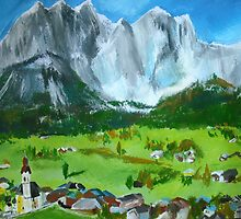 Tyrol Austrian Mountains - Wall Art by JamesPeart
