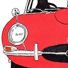 Jaguar E-Type (Red) by Bangernomics