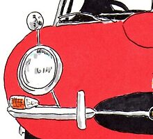 Jaguar E-Type (Red) by Bangernomics