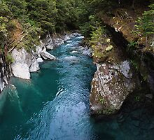 The Blue Pools of Haast Pass, Lake Wanaka NZ by andreisky