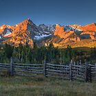 Mt Sneffels and the Dallas Divide Sunrise Near the Stock Pen by Ken Smith