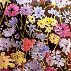 Multi-color Flower Etching by Belinda &quot;BillyLee&quot; NYE (Printmaker)