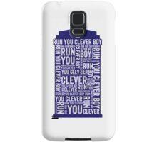 Run you clever boy Samsung Galaxy Case/Skin
