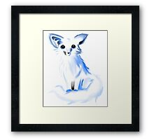 Cartoon Snow/Arctic Fox Framed Print