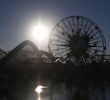 Ferris wheel silhouette by the57man