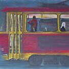 Prague Night Tram by Susie Turner
