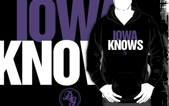 Discreetly Greek - IOWA Knows - Nike Parody by integralapparel