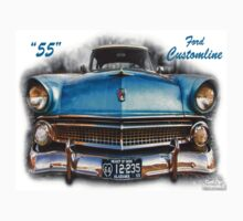 "55 Ford Customline, Grill'n - Creative Clothing by Michael "" Dutch "" Dyer"