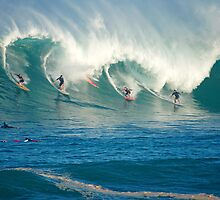 Winter Waves Waimea Bay Hawaii by kevin smith  skystudiohawaii