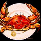 Crab on Plate by Phyllis Beiser