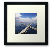 parting the red sea Framed Print