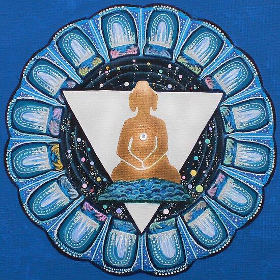 Buddha : Throat Chakra  by danita clark