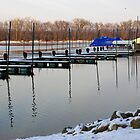 Wintery Docks at Red Wing by Robin Clifton