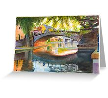 Autumn Evening in Strasbourg, France Greeting Card