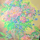 Peonies in Vase by amybcraft77