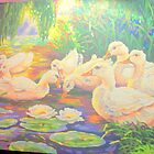 Swan family on Pond by amybcraft77