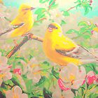 Tree Blossom Birds by amybcraft77