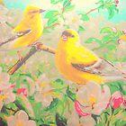 Tree Blossom Birds by amybcraft77