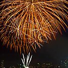Fantastic Orange Supernova | New Years Eve | Sydney Harbour by Bryan Freeman