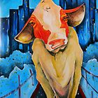 cow in the city by Andrew Kilgower