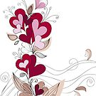 A bouquet of hearts card by Sandytov