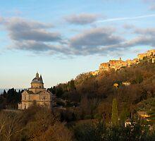 Evening light on Montepuluciano, Tuscany by Andrew Jones
