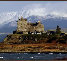 Scotland: Duart Castle in Winter by Angie Latham