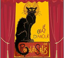 Le Chat D'Amour with Theatrical Curtain Border by taiche
