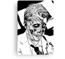 inked zombie businessman Canvas Print