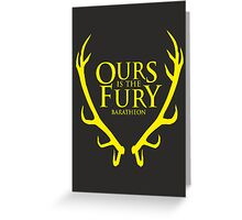 Game of Thrones - Baratheon house Greeting Card