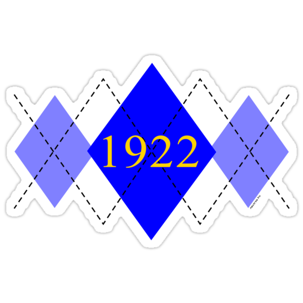 Abstraq Inc: 1922 Argyle (blue) by Abstraq