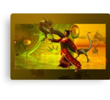 the dragon....oriental Canvas Print