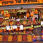 Fruit Vendor - Tel Aviv by Mary Ellen Garcia