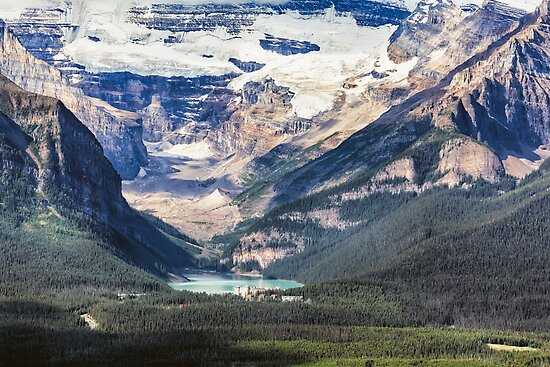 Lake Louise with the Victoria Glacier by George Oze