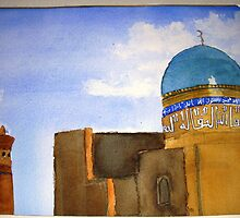 "Detail of  ""Bukhara skyline""  by taariqhassan"