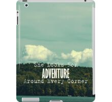 She Looks for Adventure  iPad Case/Skin