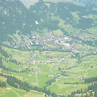 Birds Eye View of Adelboden by James Banks
