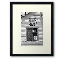 Route 66 - Bernie's Bar Framed Print