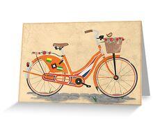 Love Holland, Love Bike Greeting Card