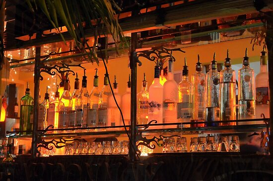 The Back Side of the Bar... Street View on Collins Ave in Miami Beach by 242Digital