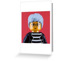 Andy Warhol Portrait Greeting Card