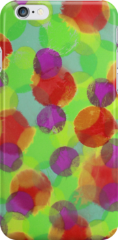 Bleeding Tissue Paper Circles - Super Saturate by Justpastone