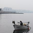 Fishing in the big city (Thessaloniki, Greece) by mkokonoglou