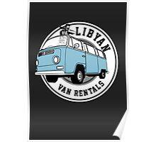 Back to the Future 'Libyan Van Rentals' Logo Poster