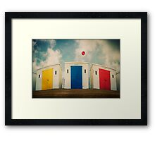 Huts And Balloons Framed Print