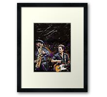 The Boss and The Big Man Framed Print
