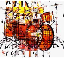 Cubist Drums Photographic Print