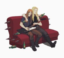 Drunk guitarists by Okha