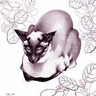 Siamese Champion Cat 2 by Patricia Howitt