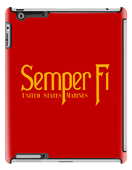 Semper Fi -US Marines -  iPad Case by Buckwhite